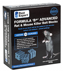 Rat Poison Bait Blocks (300g) from Pest Expert (Professional Strength)